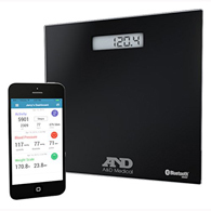 AND UC-352BLE Deluxe Connected Bluetooth Weight Scale-450 lb Capacity